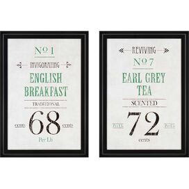 2 Piece Tea Framed Print Set
