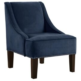 Evangeline Arm Chair in Navy