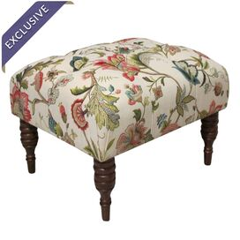 Phillips Tufted Ottoman in Brissac Jewel