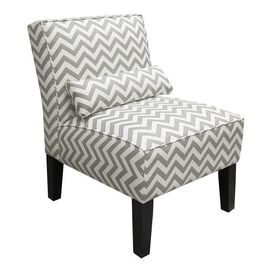 Chevron Arm Chair in Gray