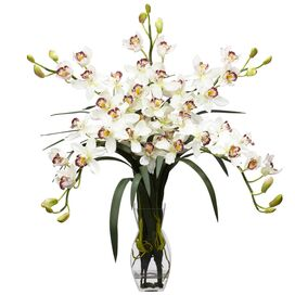 Faux Cymbidium Orchid Arrangement I