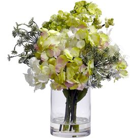 Faux Mixed Hydrangea Arrangement