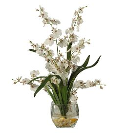 Faux Dancing Lady Orchid Arrangement II
