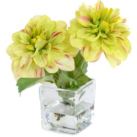 Faux Blooming Dahlia Arrangement in Green
