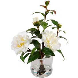 New Growth Designs Faux Camellia Arrangement