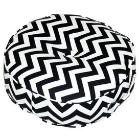 Ione Floor Pillow in Black