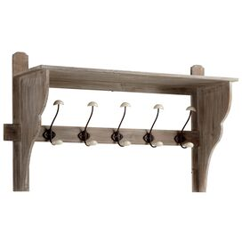 Frisco Wall Shelf with Hooks