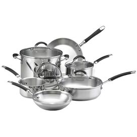 KitchenAid 10 Piece Stainless Steel Cookware Set
