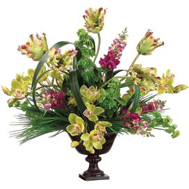 Faux Tulip & Orchid Arrangement