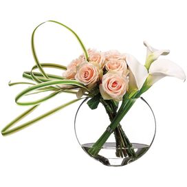 Faux Rose & Calla Lily Arrangement