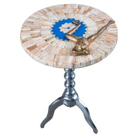 Lena Side Table in Sky Blue