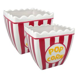 2 Piece Classic Popcorn Bowl Set