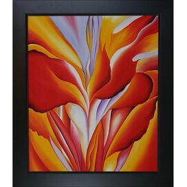 Red Canna By Georgia O'Keeffe Framed Print