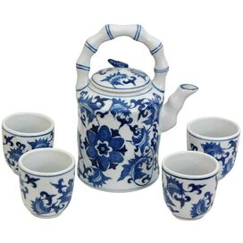 5 Piece Floral Tea Set