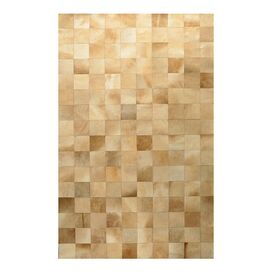 Blocks Cow Hide Rug in Camel
