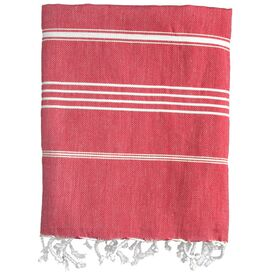Castries Fouta Towel in Red