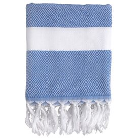 Herringbone Fouta Towel in Blue
