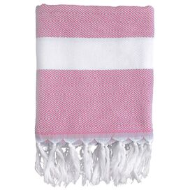 Herringbone Fouta Towel in Pink