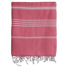 Castries Fouta Towel in Coral