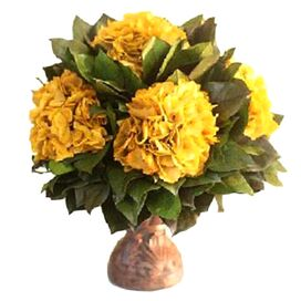 Preserved Hydrangea Arrangement in Gold