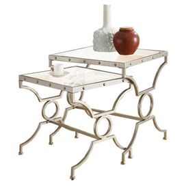 2 Piece Victoria Nesting Table Set