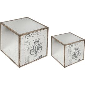 2 Piece Couronne Side Table Set