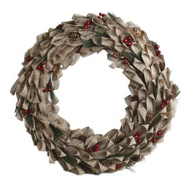 Faux Pinecone Wreath