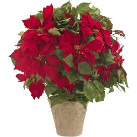 Faux Poinsettia Arrangement II
