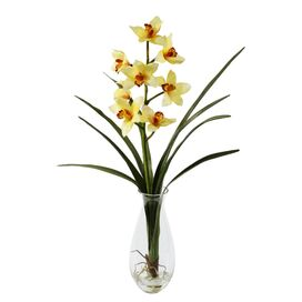 Faux Cymbidium Orchid Arrangement II