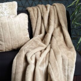 Faux Mink Throw in Vintage