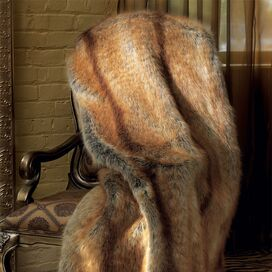 Faux Golden Fox Throw