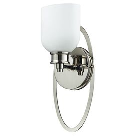 Beaudry Wall Sconce in Polished Nickel
