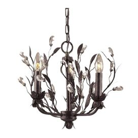 Tuscana 3-Light Crystal Chandelier in Antiqued Brass