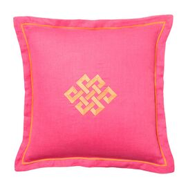 Bollywood Square Pillow in Fuchsia