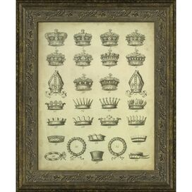 Crowns IV Framed Print