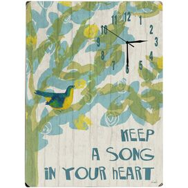 Song in Your Heart Wall Clock