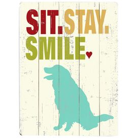 Sit Stay Smile Wall Decor