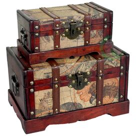 2-Piece Colonial Trunk Set