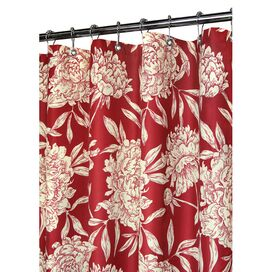 Peony Shower Curtain in Moroccan Red