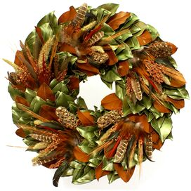 Turkey Pheasant Wreath