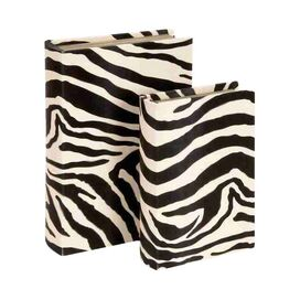 Powell 2 Piece Zebra Book Box Set