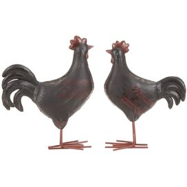 2 Piece Rooster Décor Set