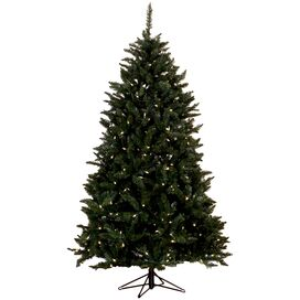 7' Pre-Lit Faux Highland Pine Tree with Stand I