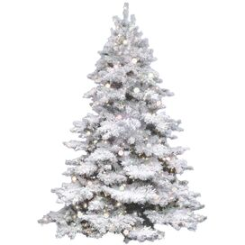 4.5' Pre-Lit Faux Flocked Alaskan Tree I
