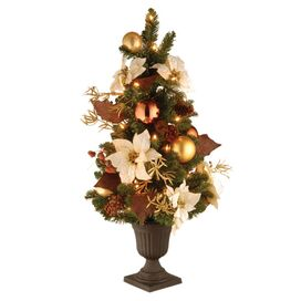 3' Pre-Lit Golden Glow Entrance Tree