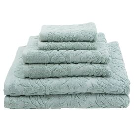 6 Piece Baroque Towel Set in Duck Egg