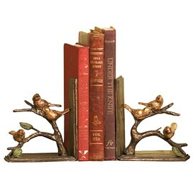 2 Piece Sparrows Bookend Set