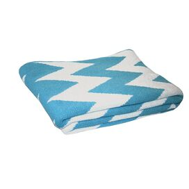 ZigZag Eco Throw in Cerulean