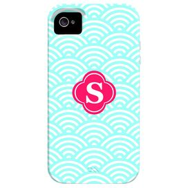 Waves Monogrammed iPhone 4 Case