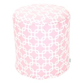 Links Pouf in Soft Pink